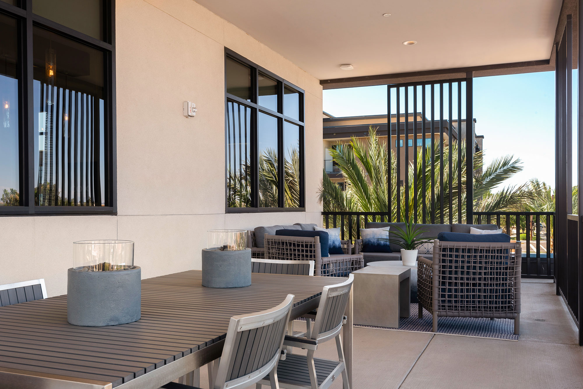 Riata - Outdoor Deck with table and seating area