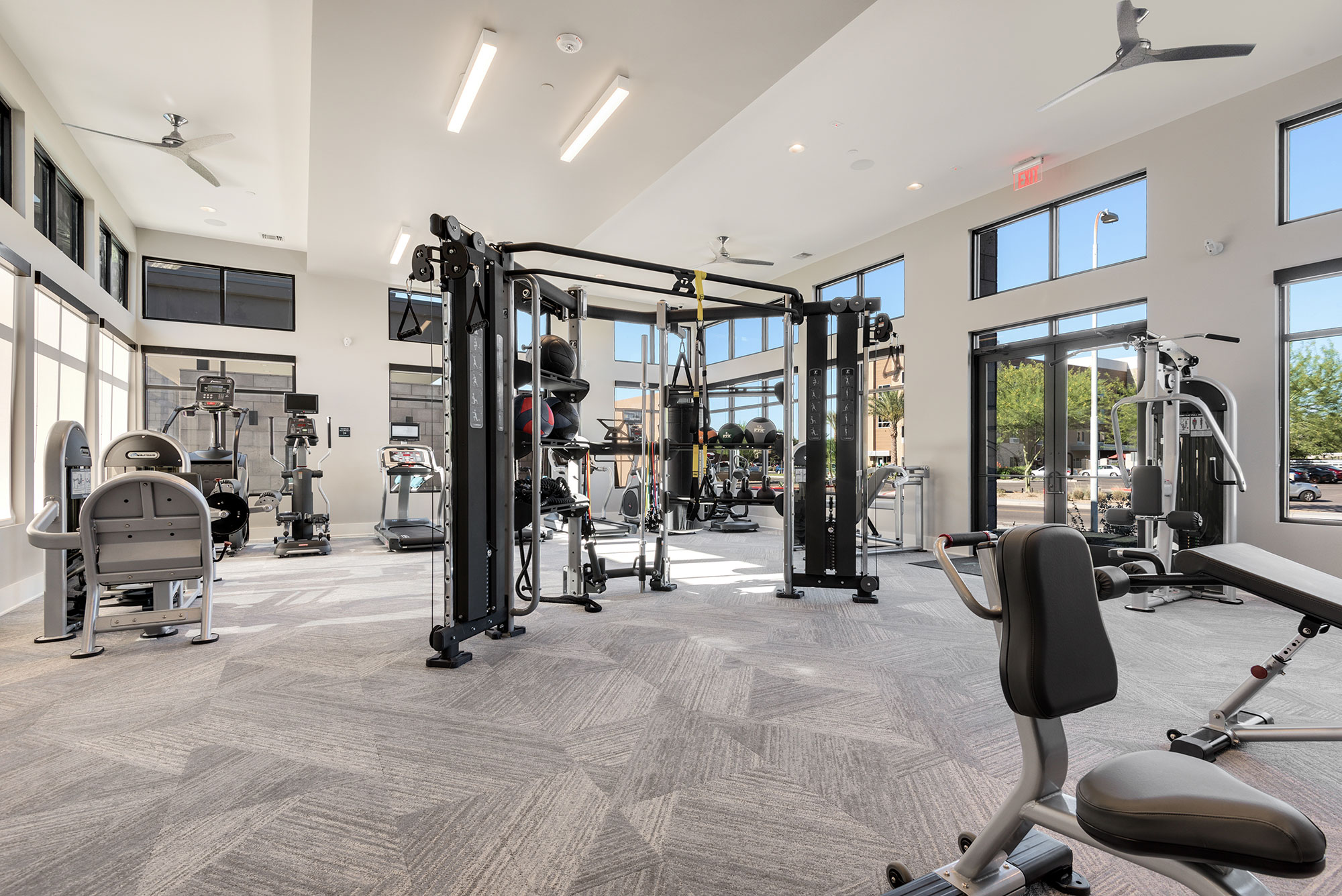 Riata - Wide view of fitness room