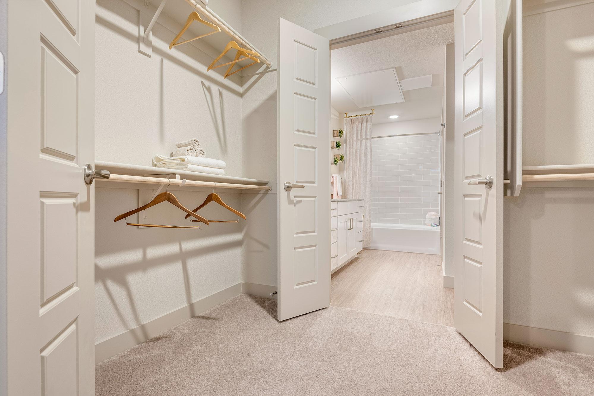 Riata - Model Unit - Closet connecting to bedroom