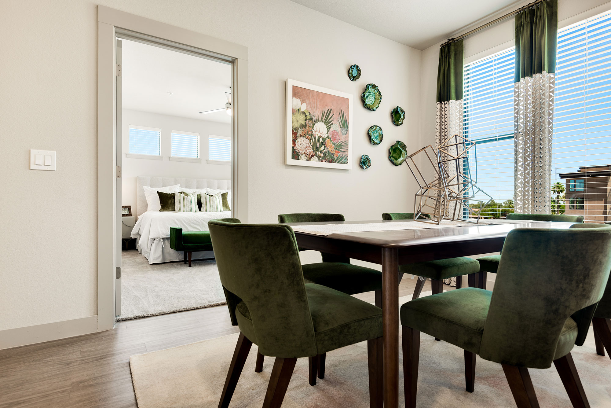 Riata - Model Unit - Dining room with view of bedroom